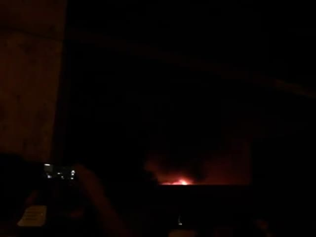 Пожар на складе пиротехники под Екатеринбургом