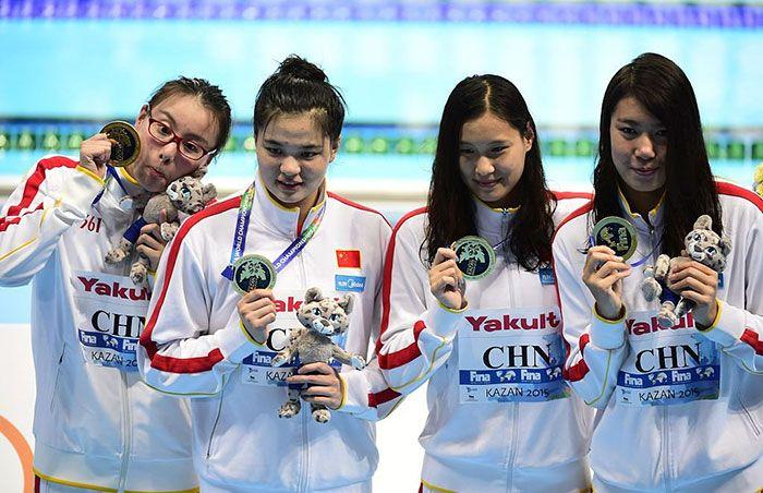 Эмоциональная китайская пловчиха Фу Юаньхуэй (10 фото)