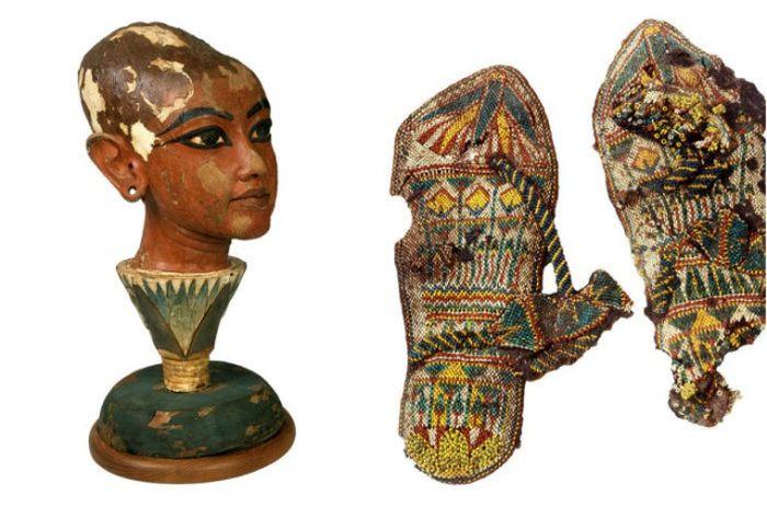Интересные артефакты, обнаруженные в гробнице фараона Тутанхамона (30 фото)