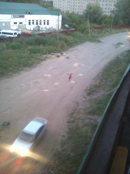 В Чувашии детям пришлось самостоятельно чинить дорогу (6 фото)