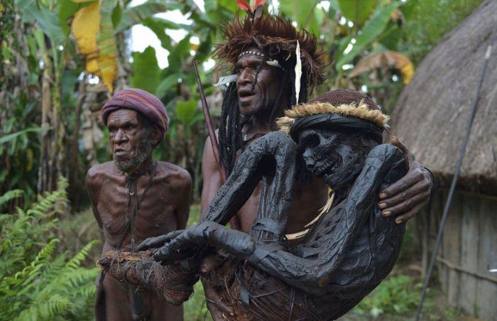 Жизнь дикого племени Дани в Папуа-Новой Гвинеи (13 фото)