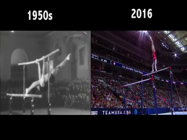 Гимнастика тогда и сейчас