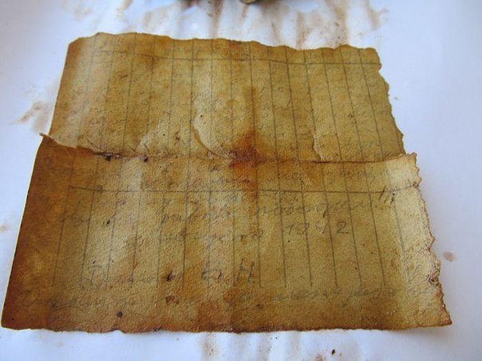 Последняя записка красноармейца (фото)