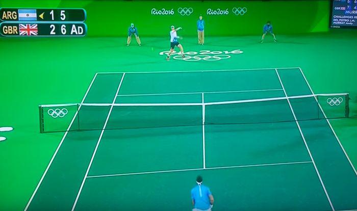 Финальный теннисный матч Олимпиады дополнили спецэффектами (5 фото)