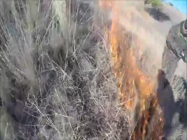 Страйкболисты устроили пожар
