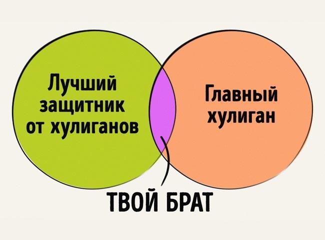 Правдивые графики об отношениях брата и сестры (12 картинок)