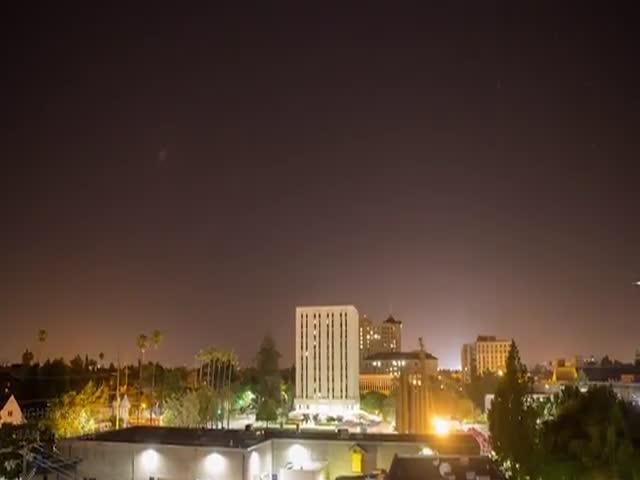 Ночное небо в условиях светового загрязнения