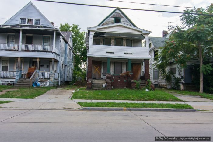 Дом в Кливленде за 1 доллар - реалии современного мира (50 фото)