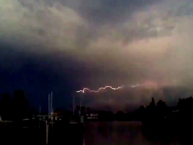 Горизонтальные молнии во Флориде
