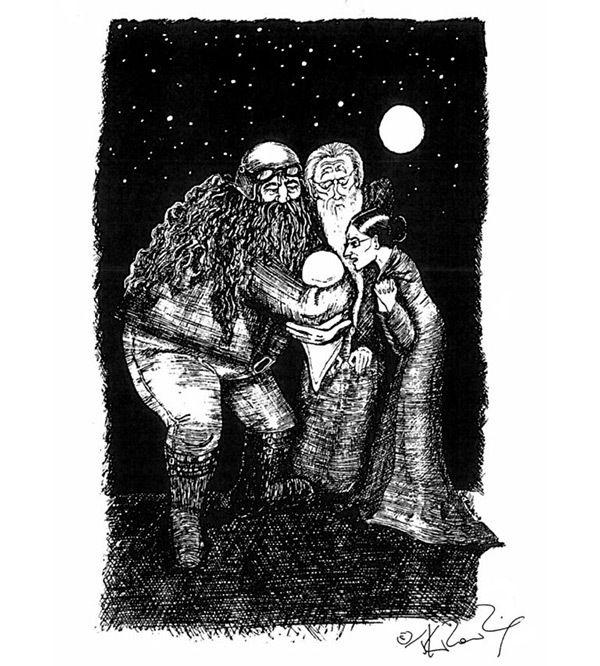 Авторские иллюстрации Джоан Роулинг к «Гарри Поттеру» (7 фото)
