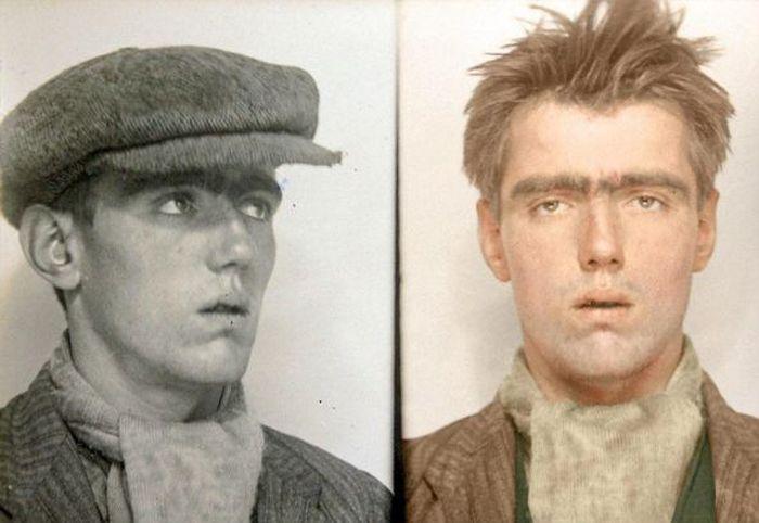 Цветные снимки британских преступников 1930-х годов (11 фото)