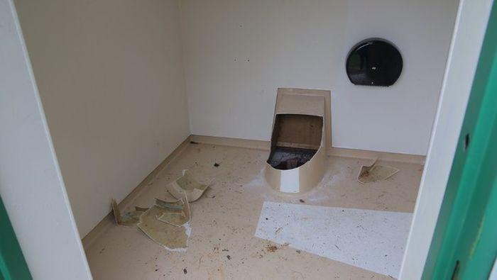 В Норвегии парень полез в общественный туалет за упавшим телефоном (4 фото)