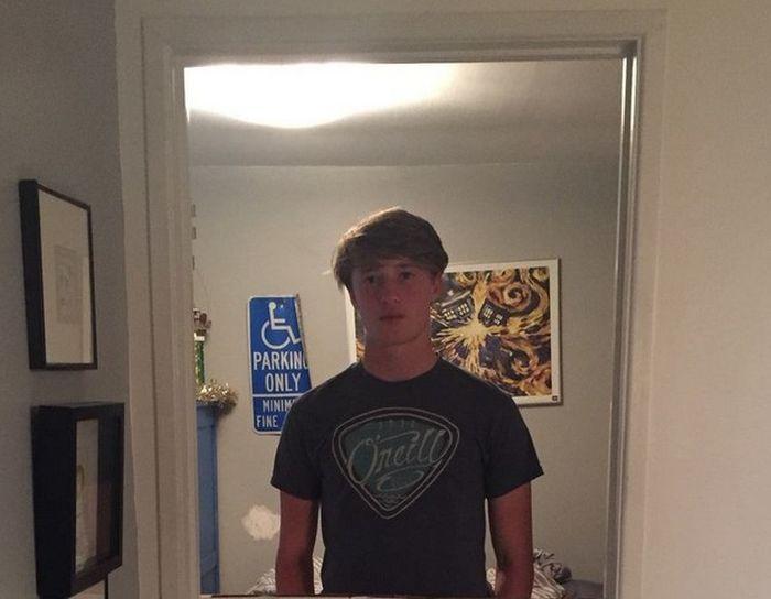 Отец проучил сына-подростка, громко хлопающего дверью (3 фото)