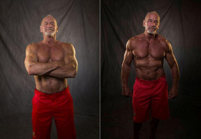 Бодибилдер держит себя в отличной форме даже в 80 лет (2 фото)