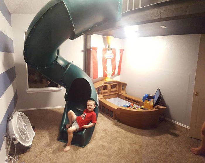 Отец сделал сыну отличный подарок на 4-летие (40 фото)