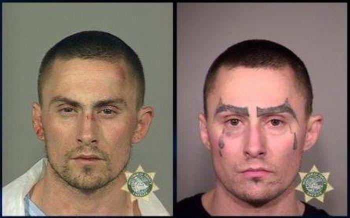 Как с годами менялся облик преступника-рецидивиста (4 фото)