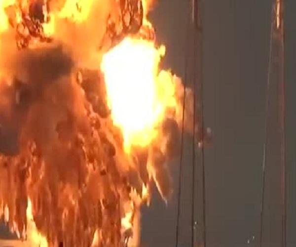 Ракета Falcon 9 взорвалась во время испытания двигателей