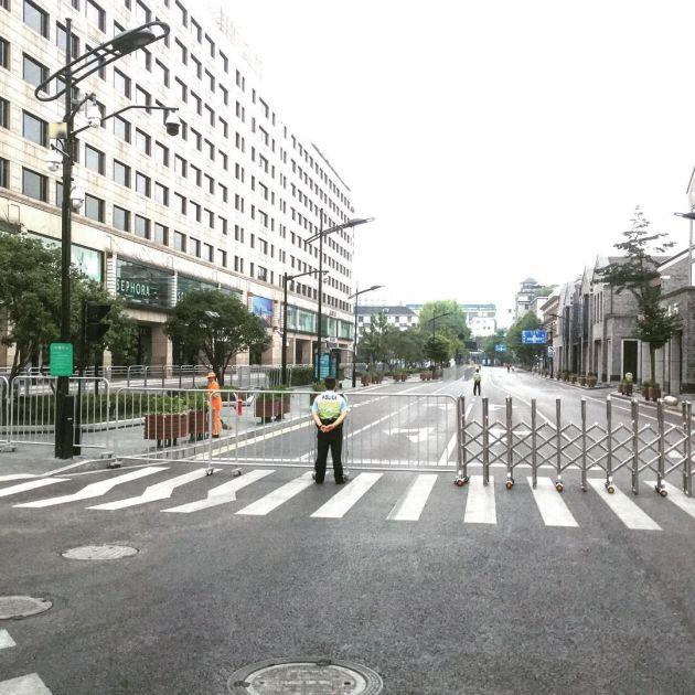 Опустевший Ханчжоу в дни саммита G20 (13 фото + видео)