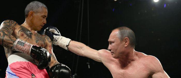 Фото с холодными взглядами Путина и Обамы стало новым мемом (17 фото)