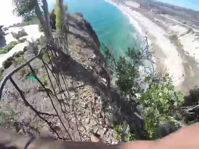 Блогер-экстремал чудом выжил, совершая опасный прыжок