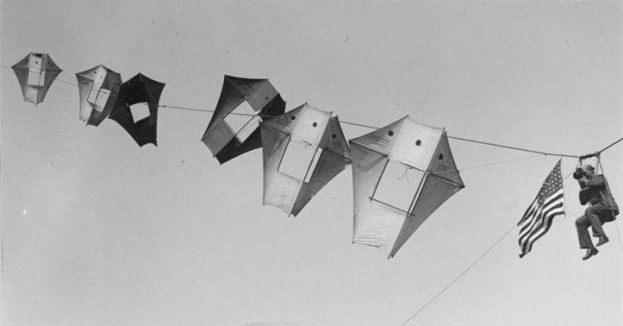 Воздушные змеи, как средство разведки (16 фото)