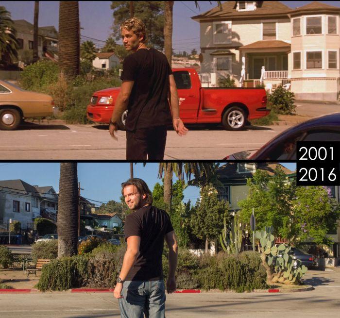 Места из известных фильмов тогда и сейчас (14 фото)