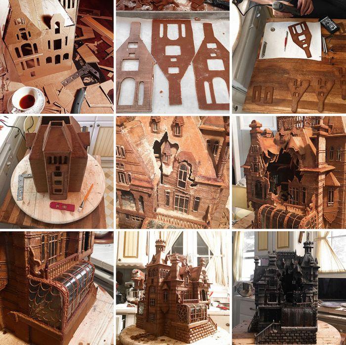 Торт в виде дома из нового фильма Тима Бёртона «Дом странных детей» (4 фото)