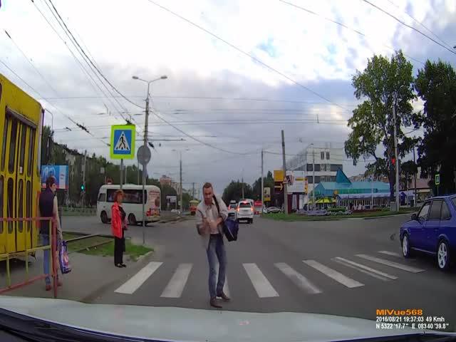 Встреча со злым пешеходом
