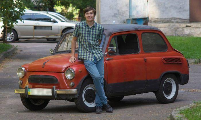 Киевский студент построил электромобиль на базе старого «Запорожца» (2 фото)