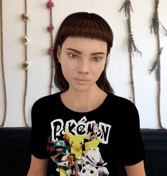 Таинственная девушка или персонаж компьютерной игры? (14 фото)