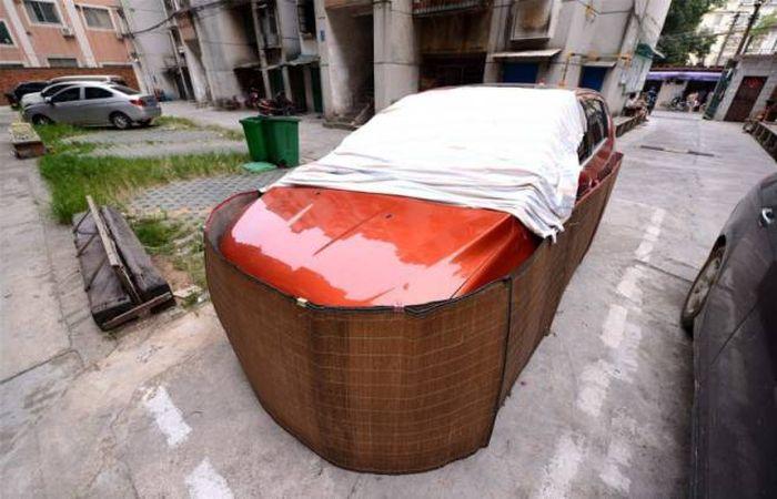 Китайская защита автомобиля от грызунов-вредителей (8 фото)