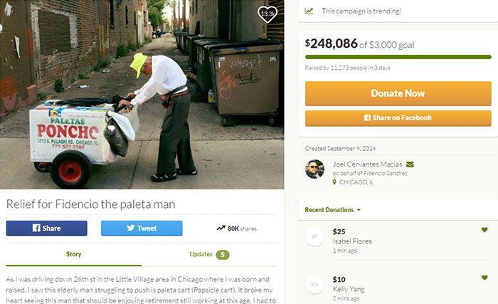 Пользователи сети собрали для бедного пенсионера деньги на достойную старость (2 фото)
