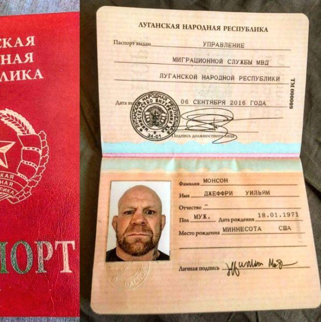 Боец смешанных единоборств Джефф Монсон получил гражданство ЛНР (2 фото)
