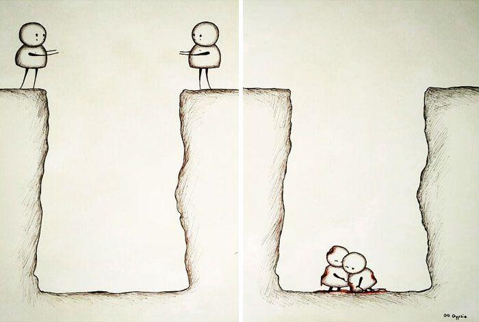 Депрессивные комиксы о любви (13 картинок)