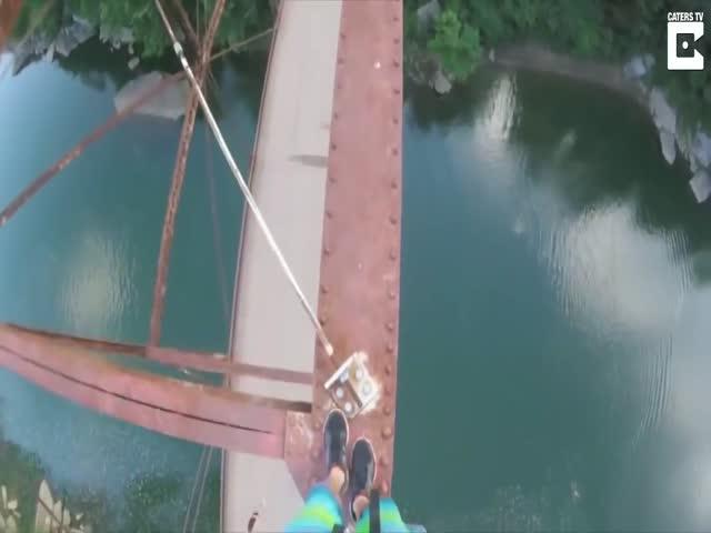 Невероятный прыжок с моста