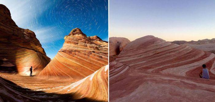 Фото одних и тех же мест, сделанные любителями и профессионалами (24 фото)