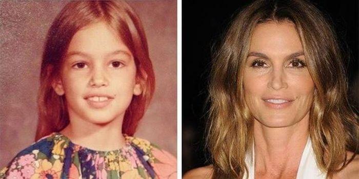Знаменитые топ-модели в детстве и сейчас (12 фото)