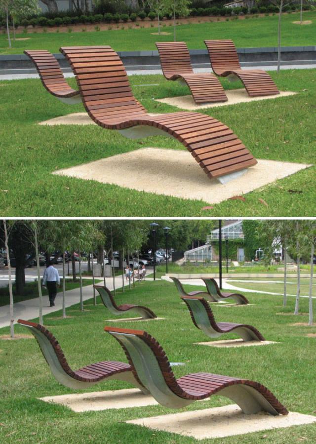Скамейки с самым оригинальным дизайном (45 фото)