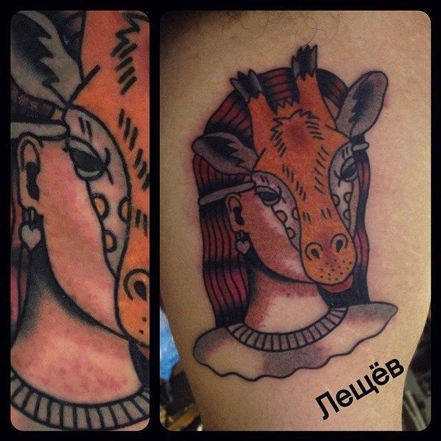 Необычные татуировки от российского мастера Егора Лещева (25 фото)