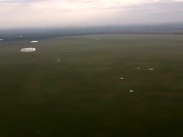 Десантник записал обращение во время прыжка