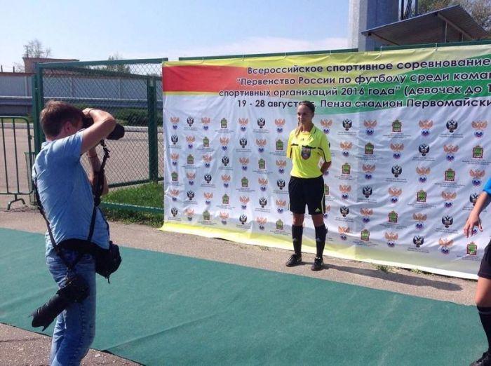 Екатерина Костюнина - самый красивый арбитр российского футбола (16 фото)