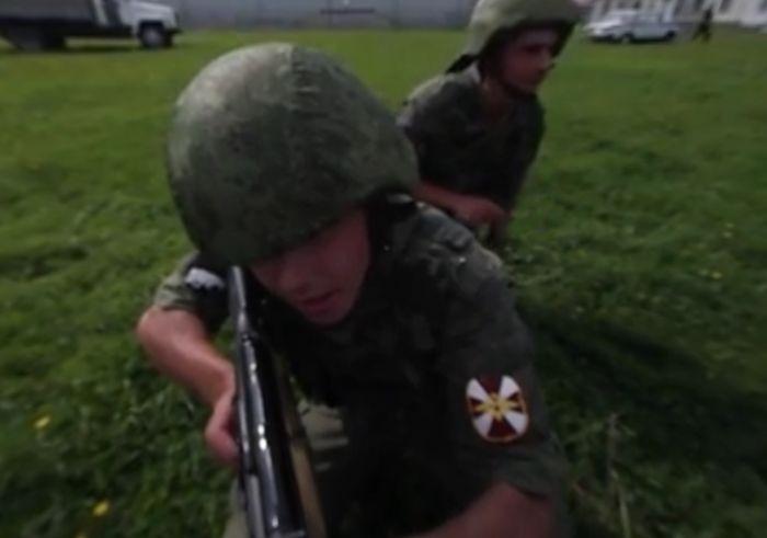 Учения спецназа Росгвардии на полигоне в Подмосковье