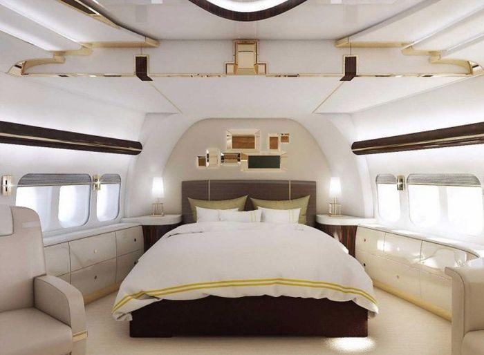 Роскошный воздушный дворец Boeing 747-8 VIP (11 фото)