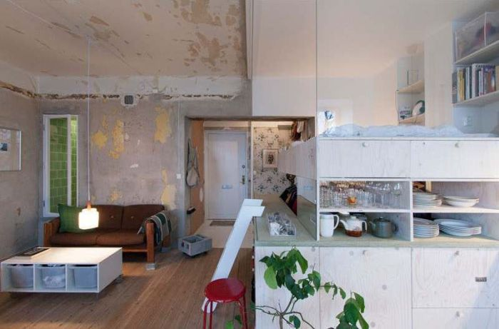Старый склад превратили в квартиру-студию (8 фото)