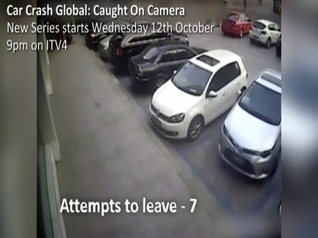 Выезд с парковки в 21 прием
