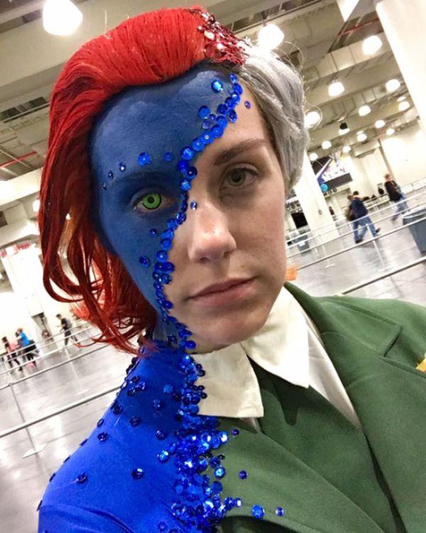 Оригинальный костюм косплеерши на нью-йоркском фестивале Comic Con (3 фото)