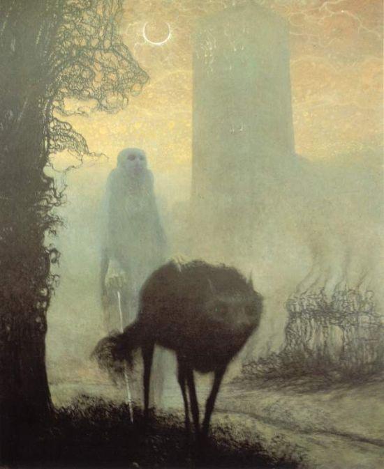 Мрачные картины Здзислава Бексиньского (27 рисунков)