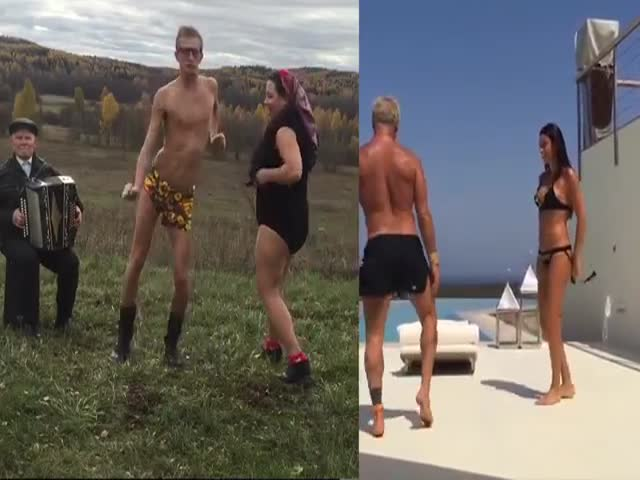 Прикольная пародия на танцы миллионера Джанлуки Вакки с женой