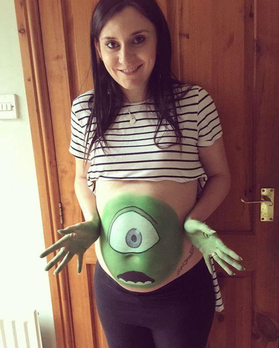 Беременные женщины готовятся к Хэллоуину (32 фото)