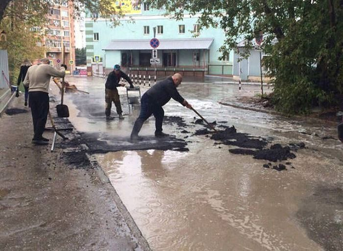 Фото, которые возможно было сделать только в России. Часть 42 (40 фото)